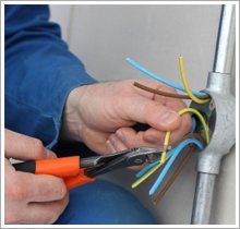 Cutting wires, yellow/green, brown, blue